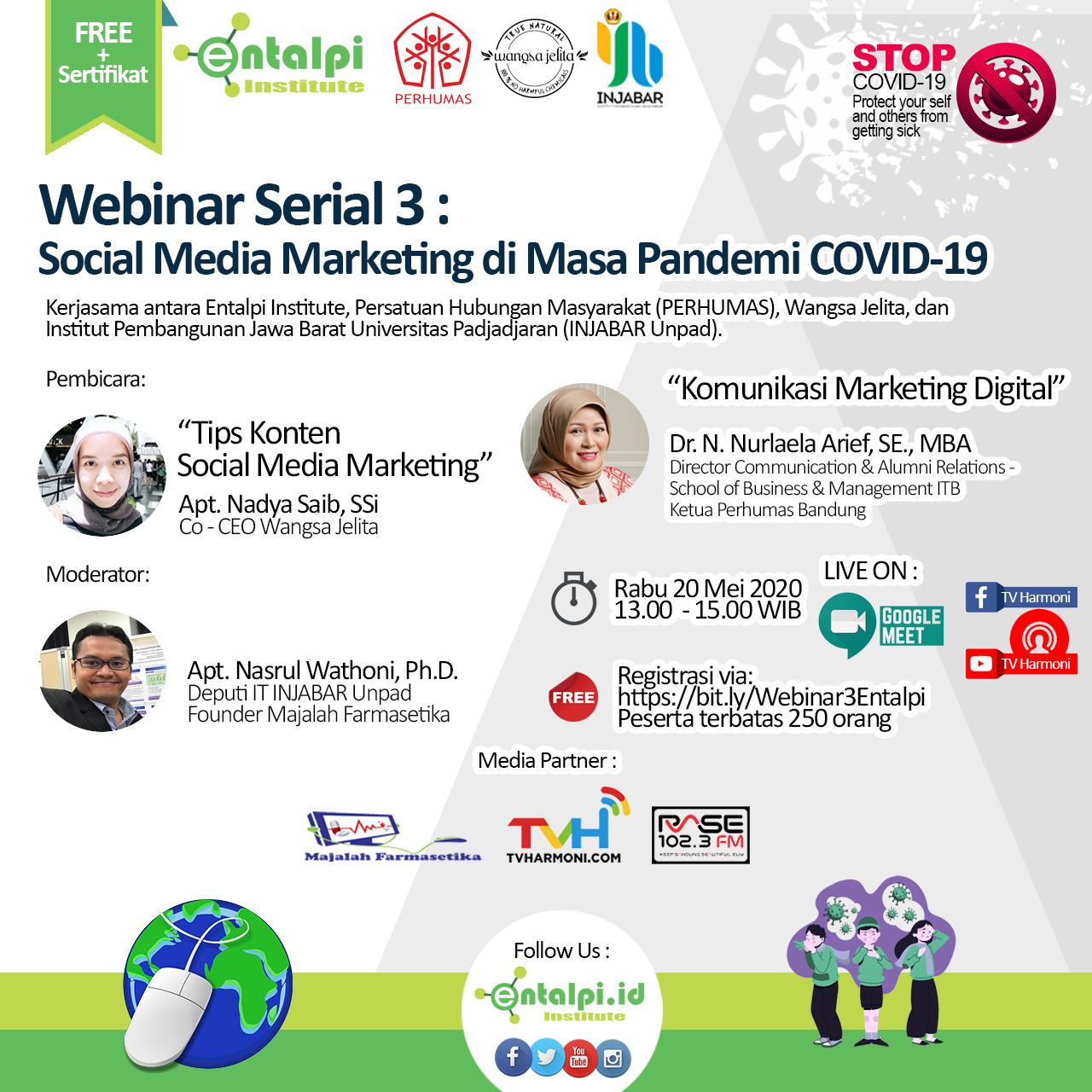 Webinar Seri 3 : Social Media Marketing di Masa Pandemi COVID-19