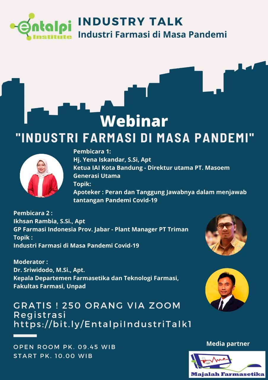 Industry Talk : Industri Farmasi di Masa Pandemi